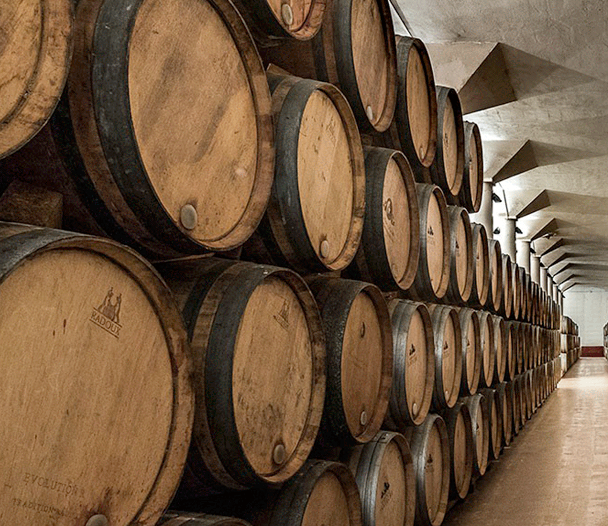 Detail of our barrel room