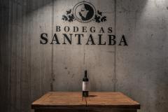 Bottle of Santalba red wine
