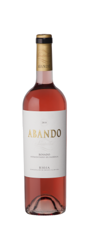 Bottle of Abando Rosé Barrel Fermented